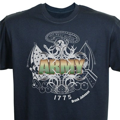 Custom Printed U.S. Army Tee Shirts