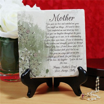 Personalized Mother's Day Stone Plaque Gift