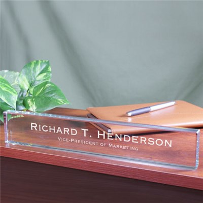 Personalized Business Professional Desk Nameplate