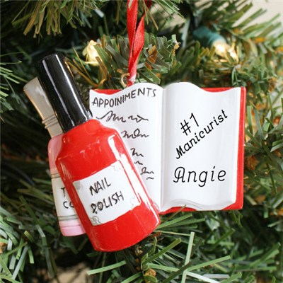 Personalized Nail Salon Christmas Ornament
