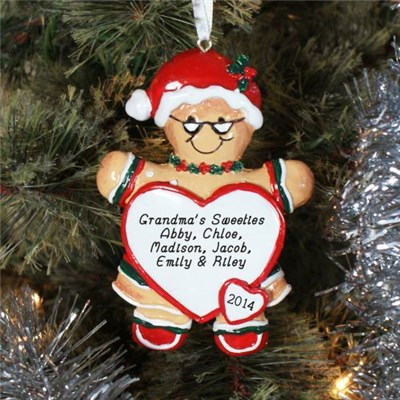 Personalized Gingerbread Grandma Christmas Ornament