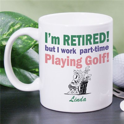 Personalized Retirement Golf Coffee Mug Gift