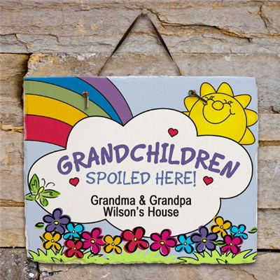 Custom Printed Grandparents Slate Wall Plaque