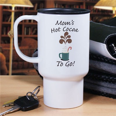 Custom Printed Hot Cocoa Travel Mug