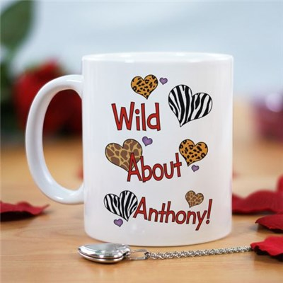 Personalized Wild About Love Coffee Mug