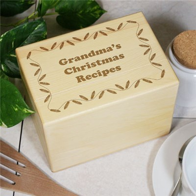Personalized Christmas Recipe Box for Grandma