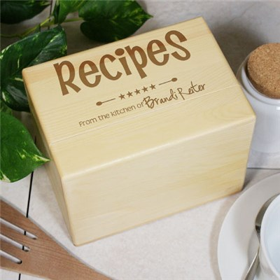 Engraved Recipe Box