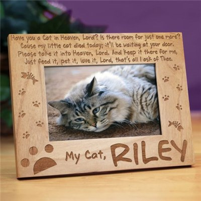 Personalized Cat Memorial Picture Frame