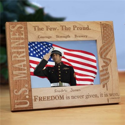 Engraved U.S. Marines Picture Frame