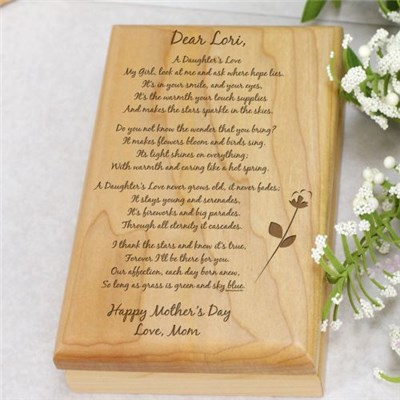 Engraved Mother's Day Valet Keepsake Box