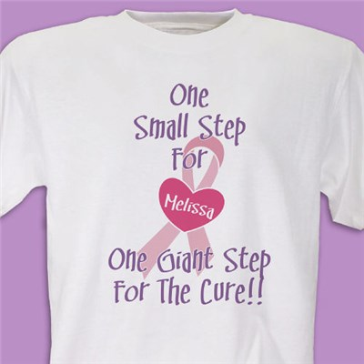 Personalized Breast Cancer Awareness Walk T-Shirts