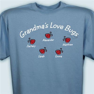 Personalized Love Bugs T-shirt in River Blue