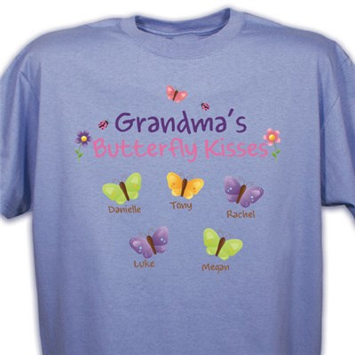 Custom Printed Butterfly Kisses Tee Shirts