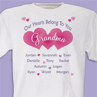 Personalized Grandma Tee Shirts