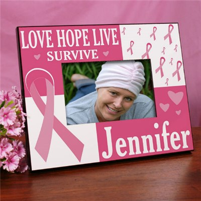 Personalized Breast Cancer Awareness Picture Frame