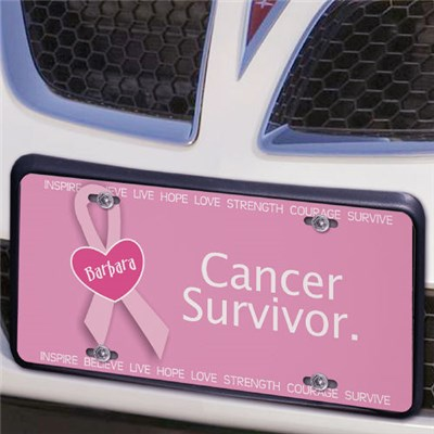 Personalized Breast Cancer Awareness License Plate