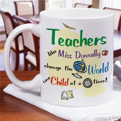 Personalized Teacher Appreciation Coffee Mug