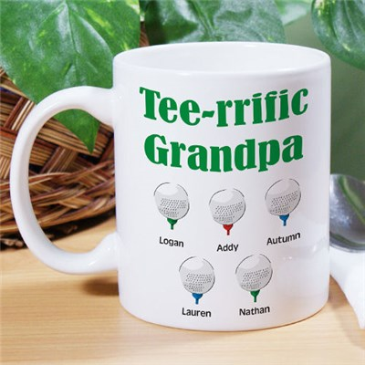 Personalized Golf Mug for Grandpa