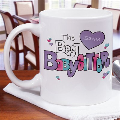 Personalized Baby Sitter Coffee Mug Gift