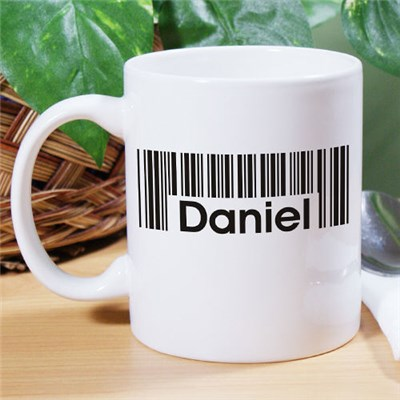 Personalized Barcode Name Coffee Mug
