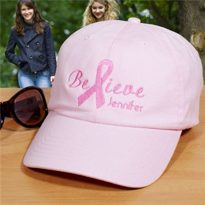 Personalized Believe Hat for Breast Cancer Awareness