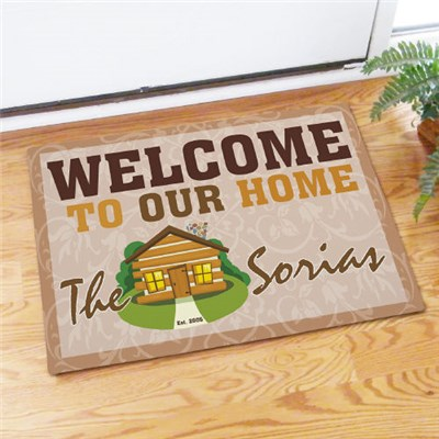 Custom Printed Vacation House Door Mat