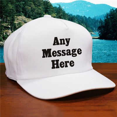 Custom Printed Message Hat