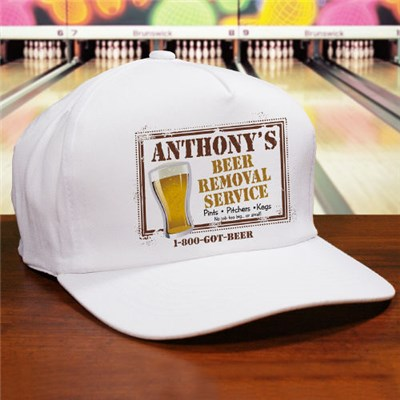 Personalized Beer Removal Service Hat for Dad