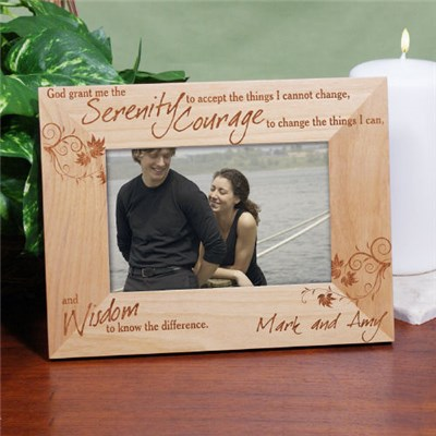 Serenity Prayer Wood Picture Frame