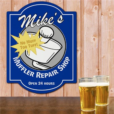 Personalized Muffler Repair Shop Wall Sign