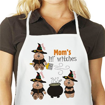 Personalized Halloween Party Apron for Mom