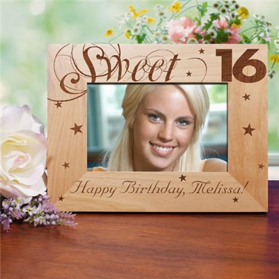 Sweet Sixteen Picture Frame Personalized