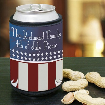Personalized American Pride Can Wrap Koozies