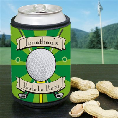 Personalized Golf Can Cooler Koozies