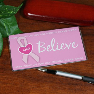 Breast Cancer Awareness Checkbook Cover