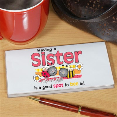 Sister Checkbook Cover