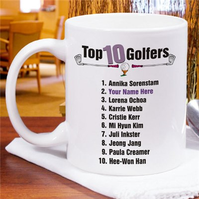 top ten women golfers mug