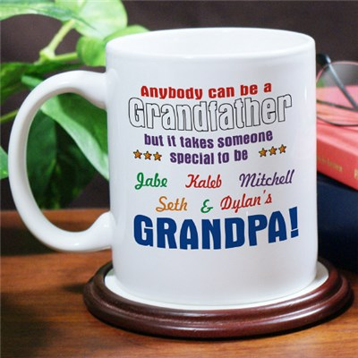 Personalized Grandpa Coffee Mug for Fathers Day