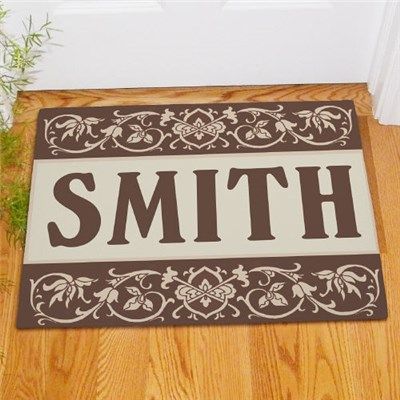 Personalized Welcome Home Family Doormat