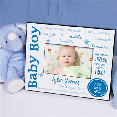 Personalized New Baby Boy Picture Frames