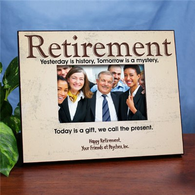 Custom Printed Retirement Picture Frames