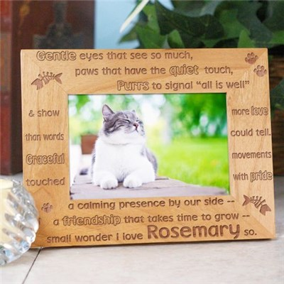 Personalized Kitty Picture Frame