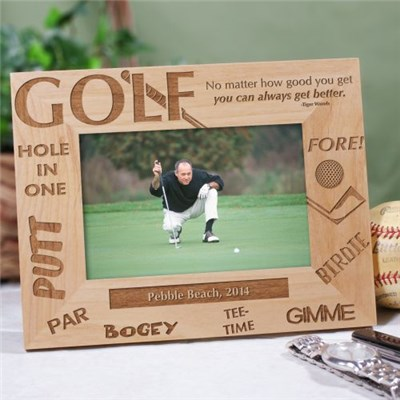 Personalized Golf Picture Frame