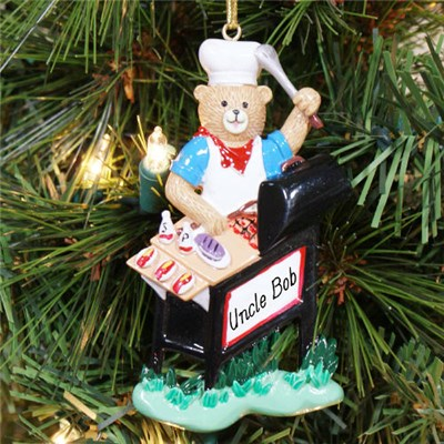 King of the Grill Christmas Ornament