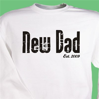 Personalized New Dad Shirt