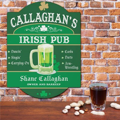 Personalized Irish Pub Wall Signs