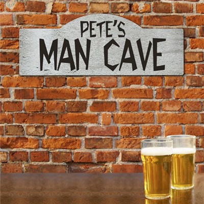 Personalized Man Cave Sign for Fathers Day Gifts