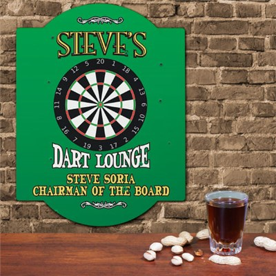 Personalized Dart Board Wall Sign for Him