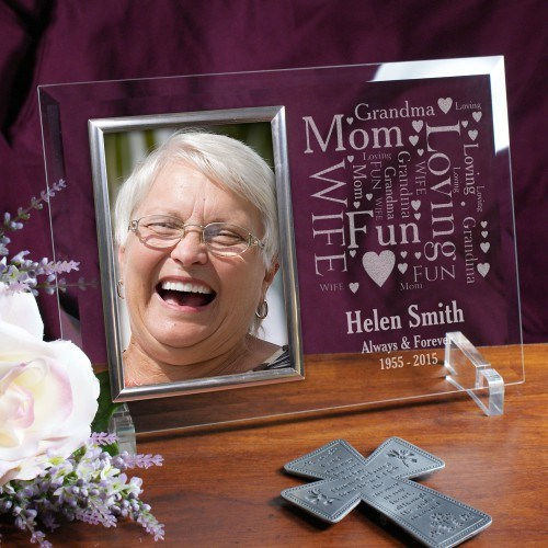 Memorial Word-Art Beveled Glass Picture Frame 8594768X