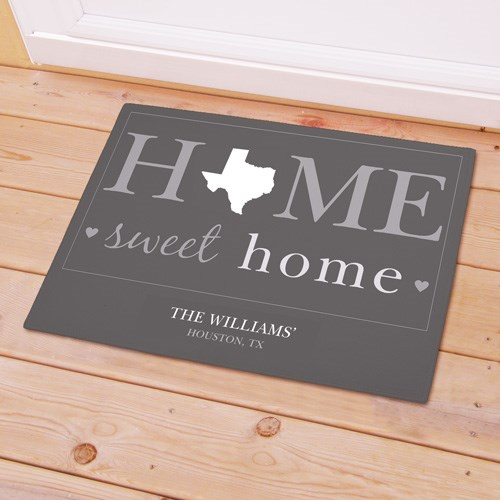 Personalized Home Sweet Home Welcome Doormat 8317471X